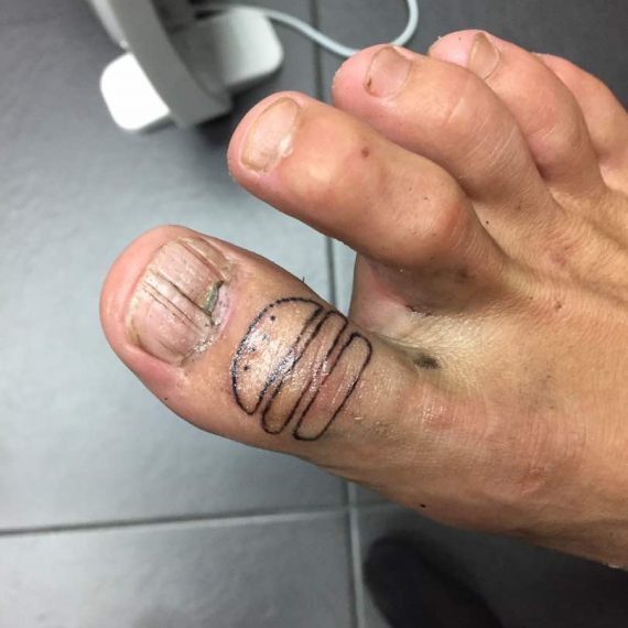 Tattoo on Toe