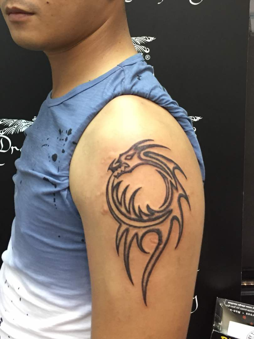 Dragon design tattoo
